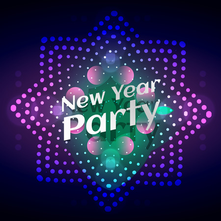 new year party: stylish glowing new year party Illustration