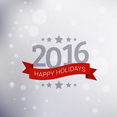 happy holidays: new year happy holidays greeting Illustration