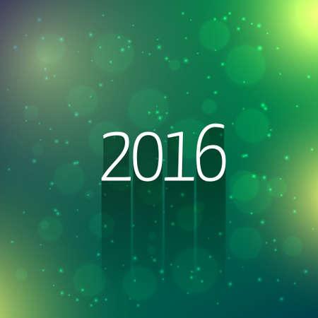 year: 2016 new year card
