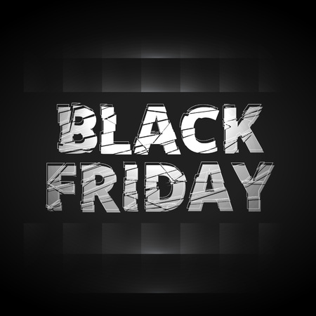 shatter: black friday shatter text style design