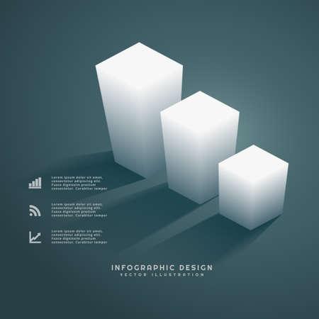 infograph: 3d bars infograph