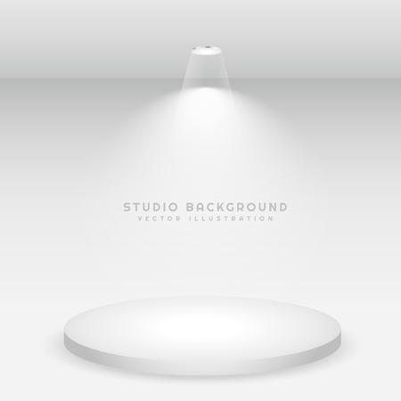 white background: white podium studio background