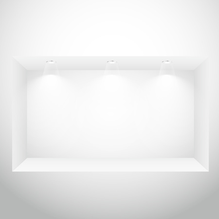 spot lights: empty display window with spot lights