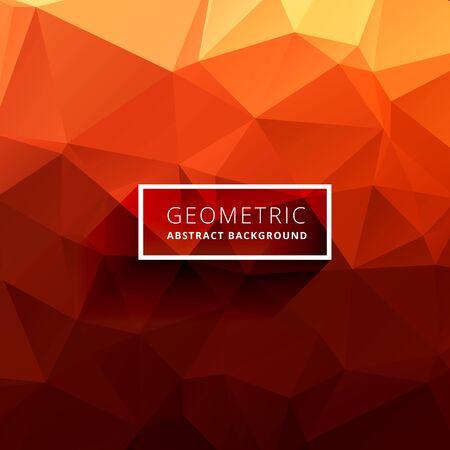 orange background abstract: orange polygonal background