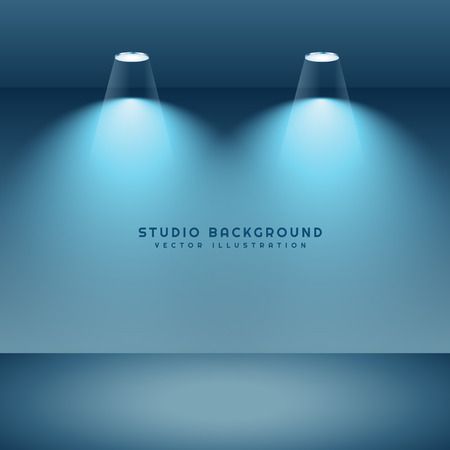 spot lights: studio background with two spot lights