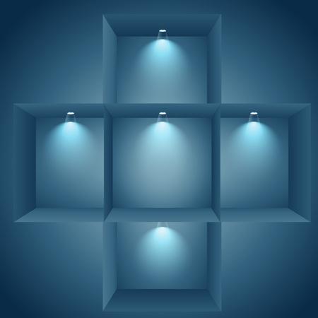 window display: multiple display window Illustration