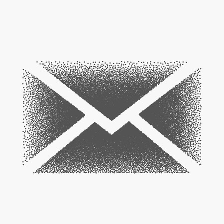 envelop: mail envelop made with dots
