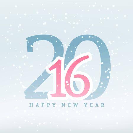 year: 2016 new year design