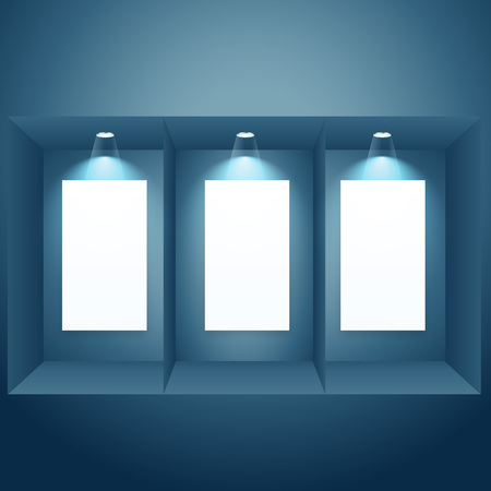 window display: display window with empty frame