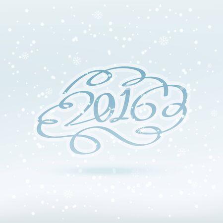greeting: creative 2016 greeting Illustration