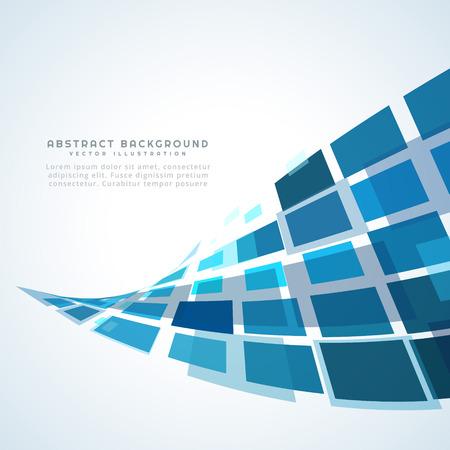 ブルー ウェーブ デザイン