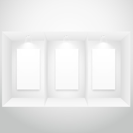 display window: display window with picture frame Illustration