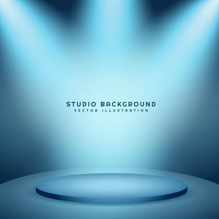 Studio-Hintergrund mit Podium Vektorgrafik
