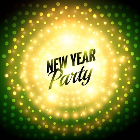 new year party: new year party poster Illustration