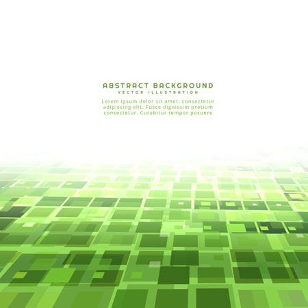 green background: green perspective mosaic background