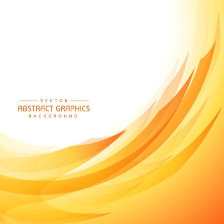 abstracte gele golvende achtergrond Vector Illustratie