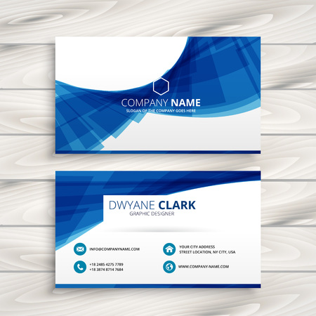 business card: blue wave business card