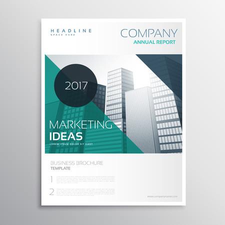 modern business annual report flyer brochure leaflet template