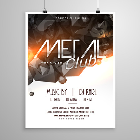 remix: metal club music party flyer poster