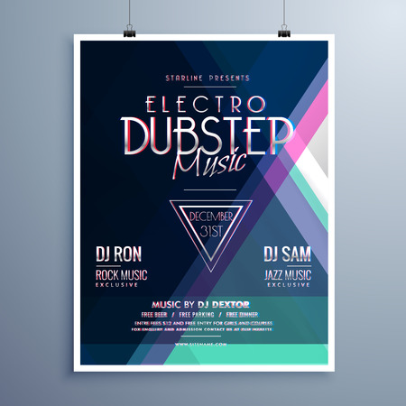 remix: electro music party event flyer template