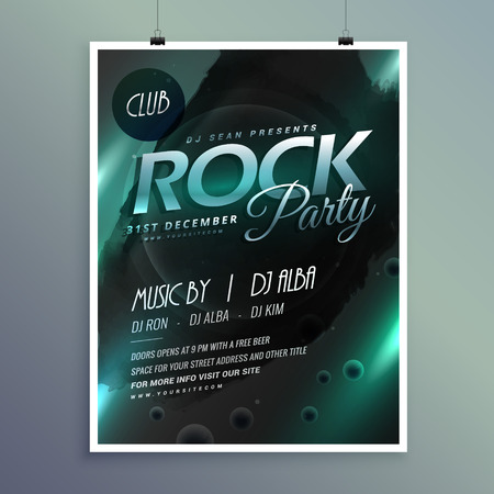 remix: club rock party music flyer template Illustration