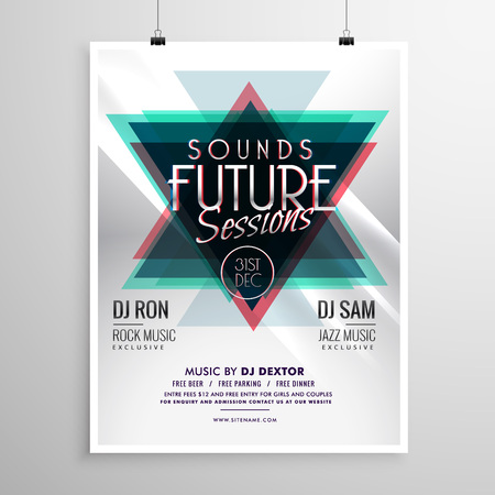 remix: event flyer poster template with abstract triangle shapes