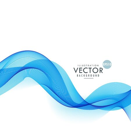 smoky: smoky blue waves abstract background Illustration