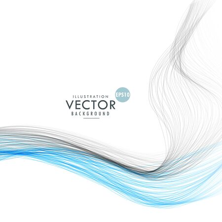 abstract waves: abstract line waves background illustration