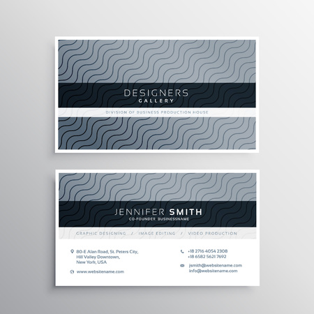 lineas onduladas: clean business card template with wavy lines