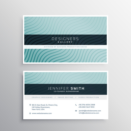 lineas onduladas: business card template with wavy lines patterns