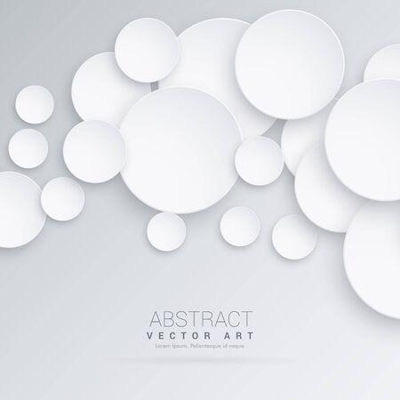circles: abstract 3d circles background