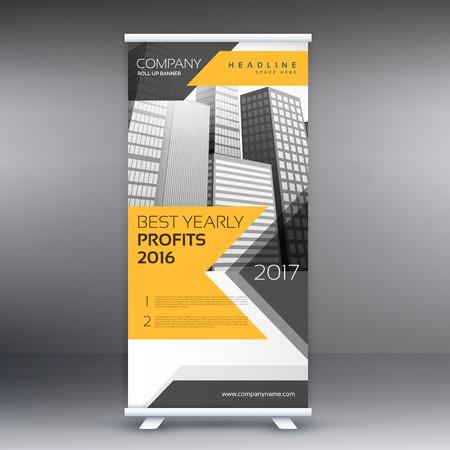 Zakelijke roll up banner template presentatie Stockfoto - 61798252