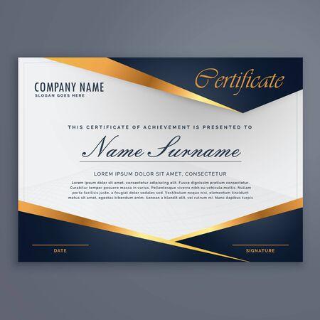 luxury template: premium diploma luxury certificate template