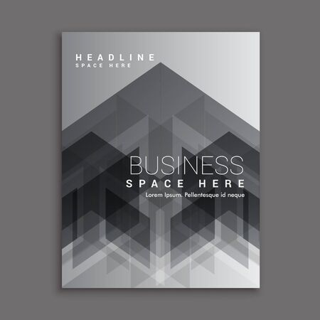 magazine template: black abstract business magazine cover template