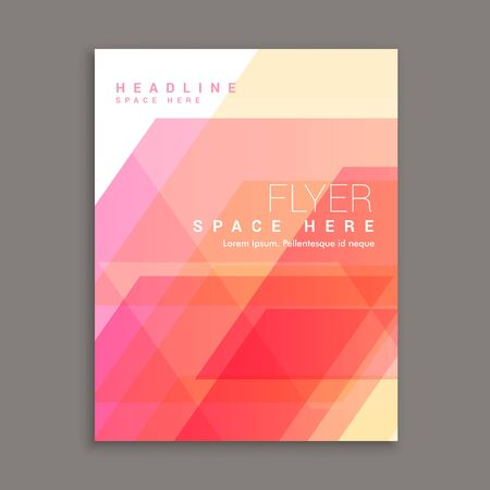 magazine template: business brochure flyer template magazine cover Illustration