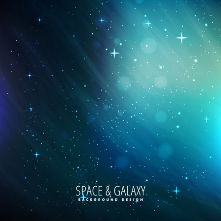milkyway: blue space background