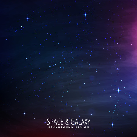 milkyway: stars filled space background Illustration