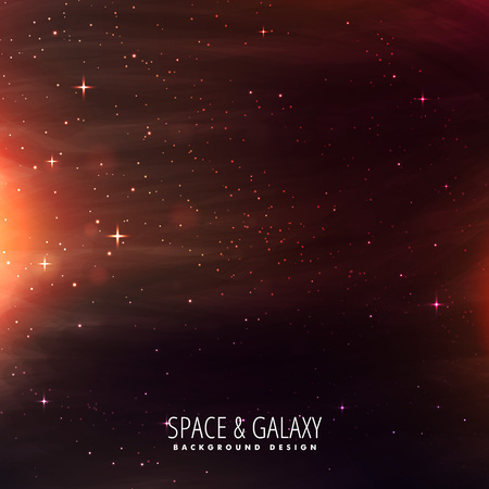 milkyway: universe filled with stars Illustration