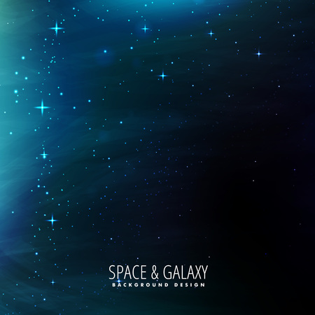 milkyway: space background template Illustration