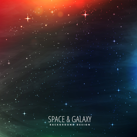 milkyway: space with stars and colorful lights
