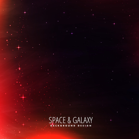 milkyway: space background with red lights