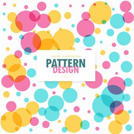 circles pattern: colorful circles dots pattern background Illustration