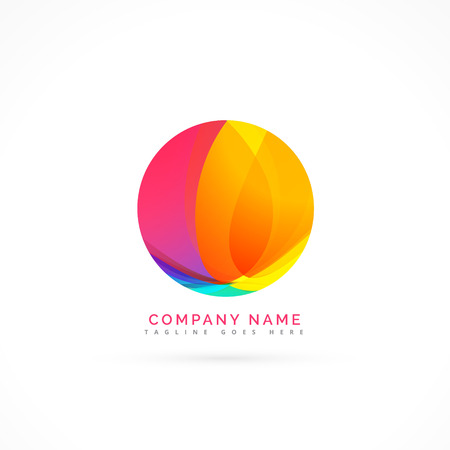 abstract colorful circle logo element