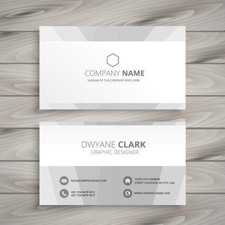 minimal: minimal white business card Illustration