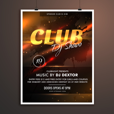remix: club part promotional template with event details