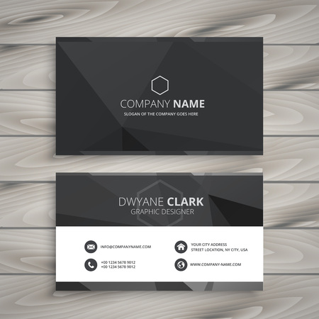 black business card design Ilustracja