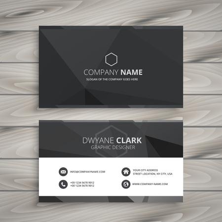 black business card design Stock Illustratie