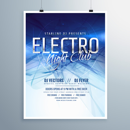 remix: electro night club party flyer poster template