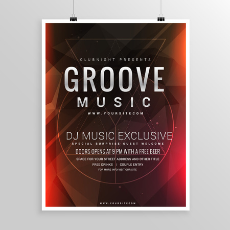 event party: music party flyer poster event template