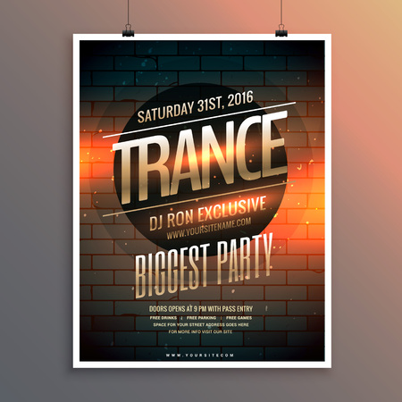 remix: party event flyer template including venue and date Illustration